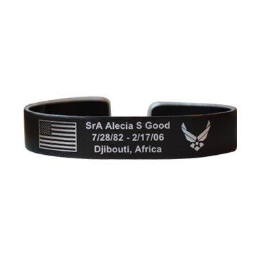 Sra Alecia S Good 7 Black Aluminum Bracelet