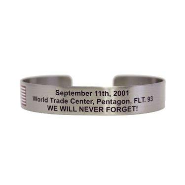 "7"" September 11 WTC, Pentagon, Flt 93 We Will Never Forget!"