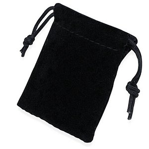 "3"" x 4"" Black Velveteen Drawstring Pouch - only $1"