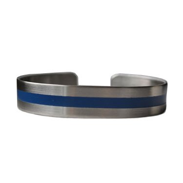 "7"" Blue Line on Stainless Steel"