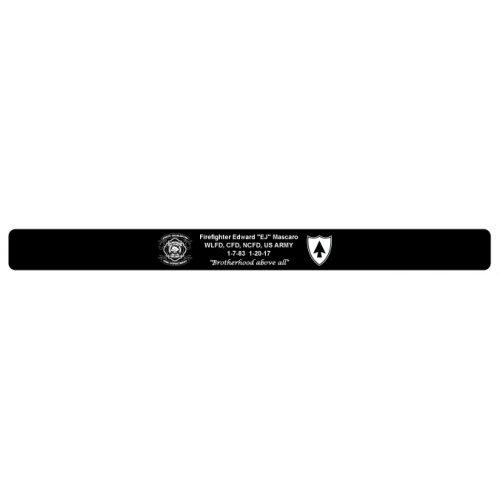 "Firefighter Edward ""EJ""Mascaro Memorial Bracelet  7"" Size NCFD logo"