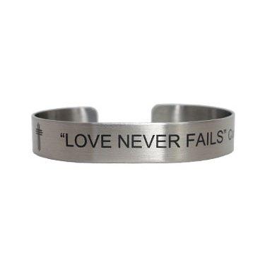 """7"""" Love Never Fails Corinthians 13:8"""