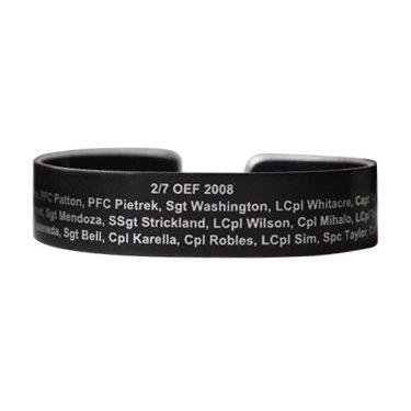 2/7 OEF 2008 Black Aluminum Bracelet