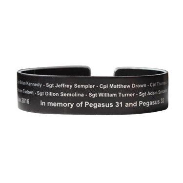 "Pegasus 31 and 32 Bracelet 6"" small size Black Aluminum - Pre Order"