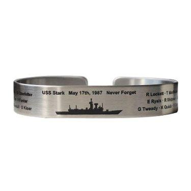 """USS Stark 7"""" Regular Size Stainless Steel Bracelet"""