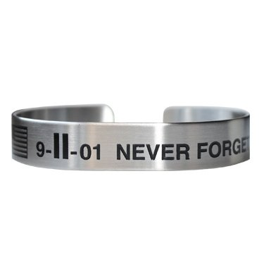 Stainless Steel 9-11-01 Never Forget