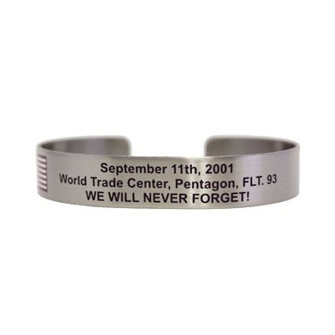 "7"" September 11 WTC, Pentagon, Flt 93 We Will Never Forget!"