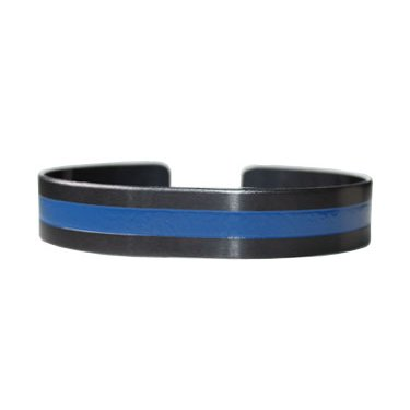 "7"" Blue Line on Regular Black Aluminum"