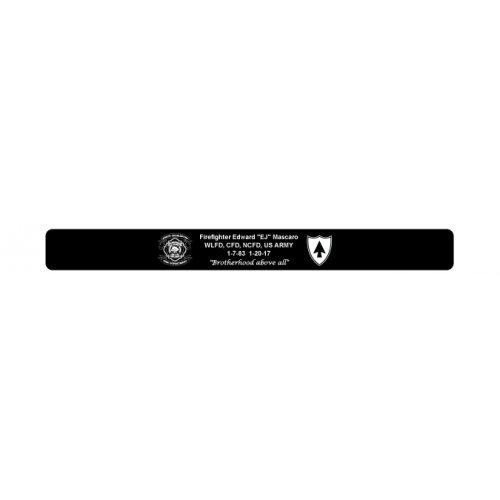 """Firefighter Edward """"EJ"""" Mascaro Bracelet 6"""" Size NCFD logo"""