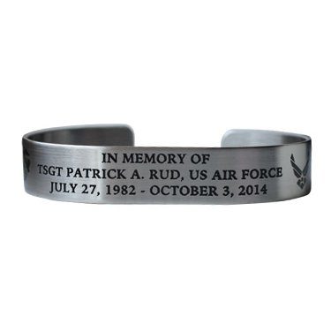 TSGT PATRICK A. RUD Bracelet Stainless Steel with black etch